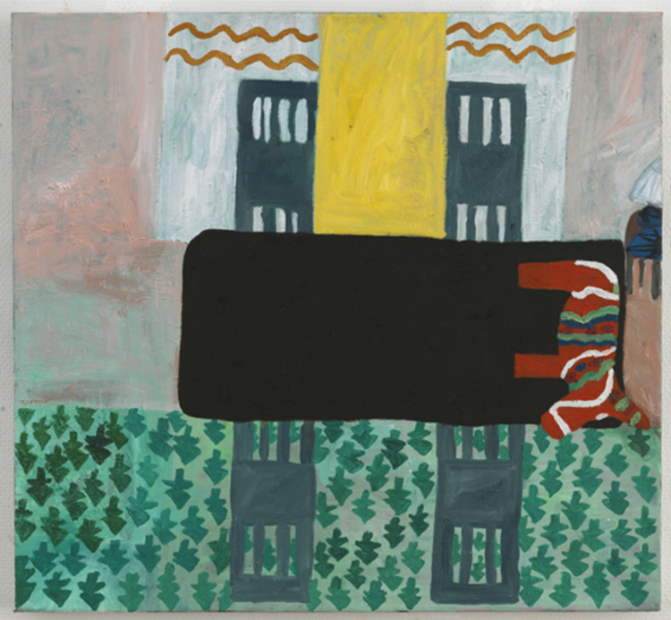 'Svarta bordet med dalahästen', 2013, ett konstverk av Eva Kerek