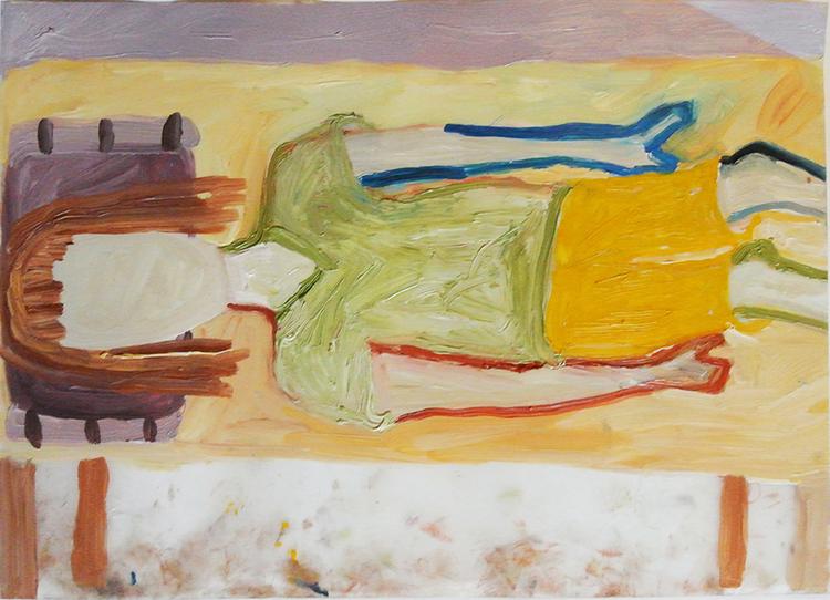 'Flickan i sängen', 2013, ett konstverk av Eva Kerek