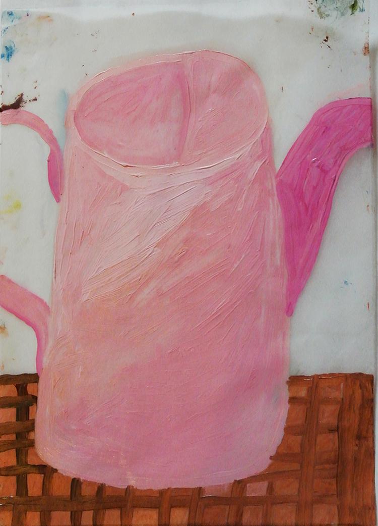 'Rosa vattenkannan', 2013, ett konstverk av Eva Kerek