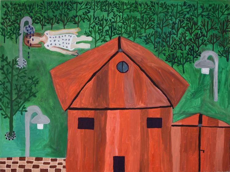 'Ute i det fria', 2013, ett konstverk av Eva Kerek