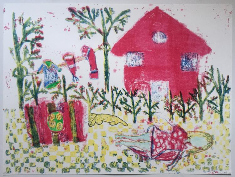 'Försommar', ett konstverk av Eva Kerek