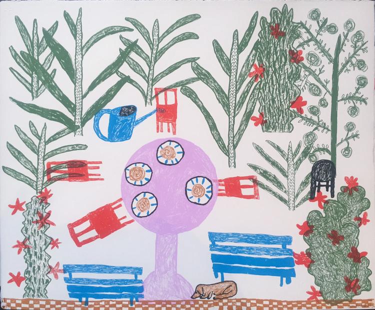 'Tropisk hetta', ett konstverk av Eva Kerek