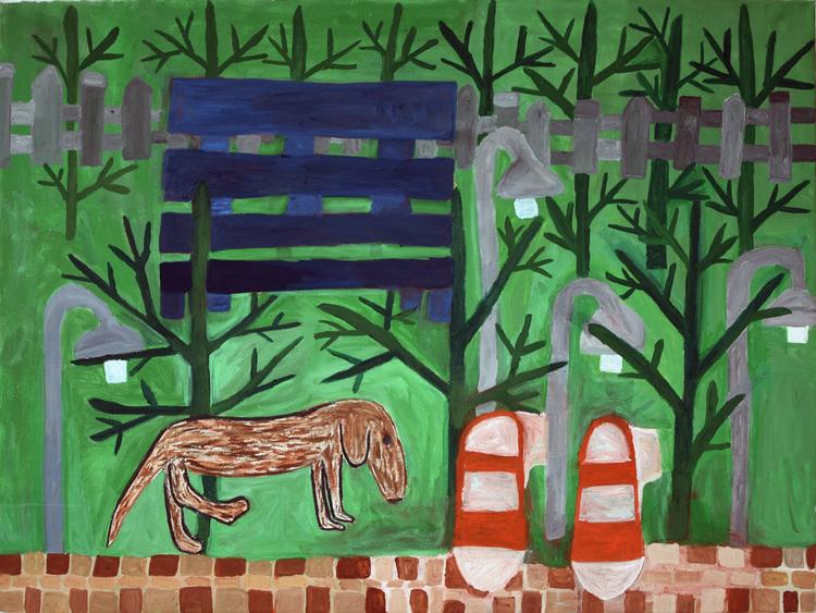 'Hasse är ute på upptäcksfärd', 2016, ett konstverk av Eva Kerek