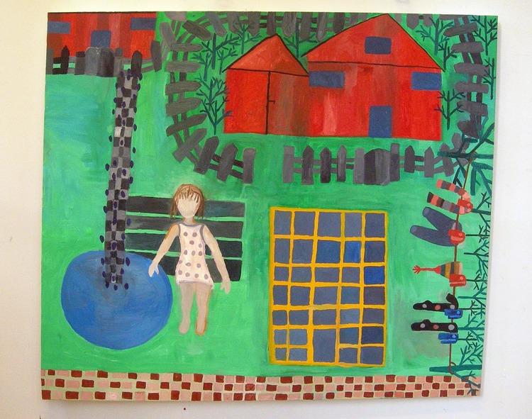 'Flickan i det gröna', 2010, ett konstverk av Eva Kerek