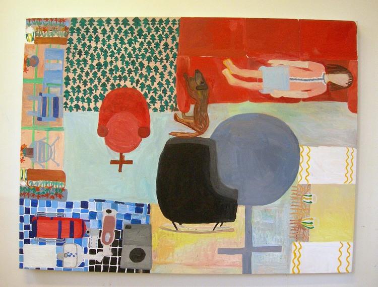 'Flickan som ligger i soffan', 2010, ett konstverk av Eva Kerek