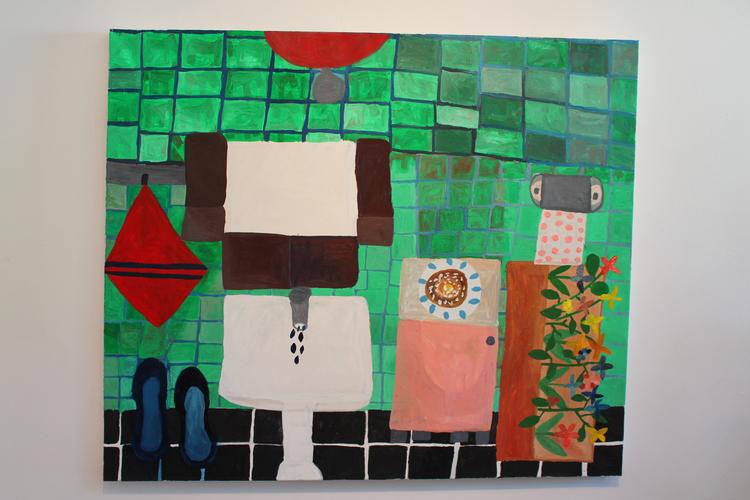 'Kanelbullen i badrummet', 2011, ett konstverk av Eva Kerek