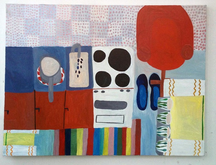 'Hemma i köket', 2011, ett konstverk av Eva Kerek