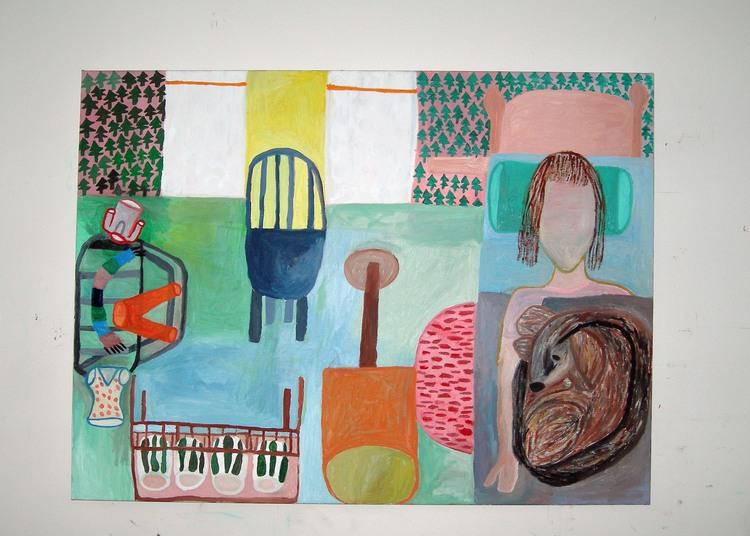 'Nu är det dags att gå och sova', 2011, ett konstverk av Eva Kerek