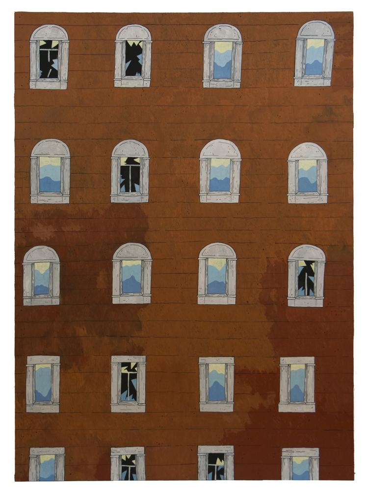 '...Windows...', 2017, ett konstverk av Kristina Abelli Elander