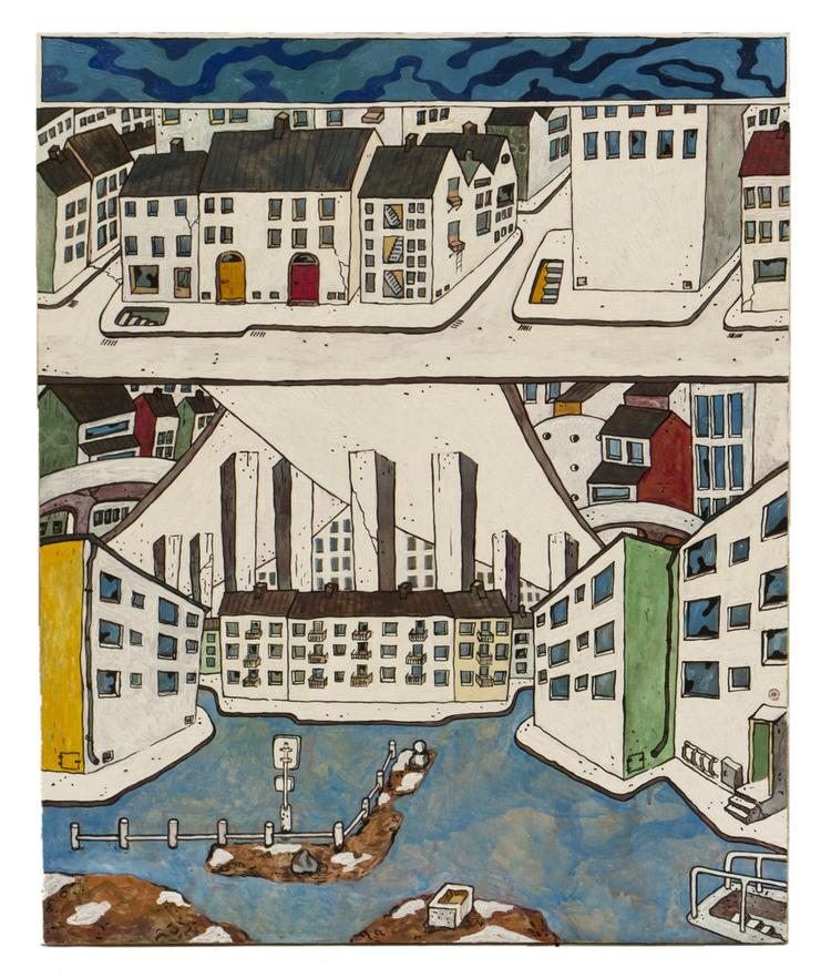 'Cityscape/Skanstull/Tallkrogen', 2015, ett konstverk av Kristina Abelli Elander