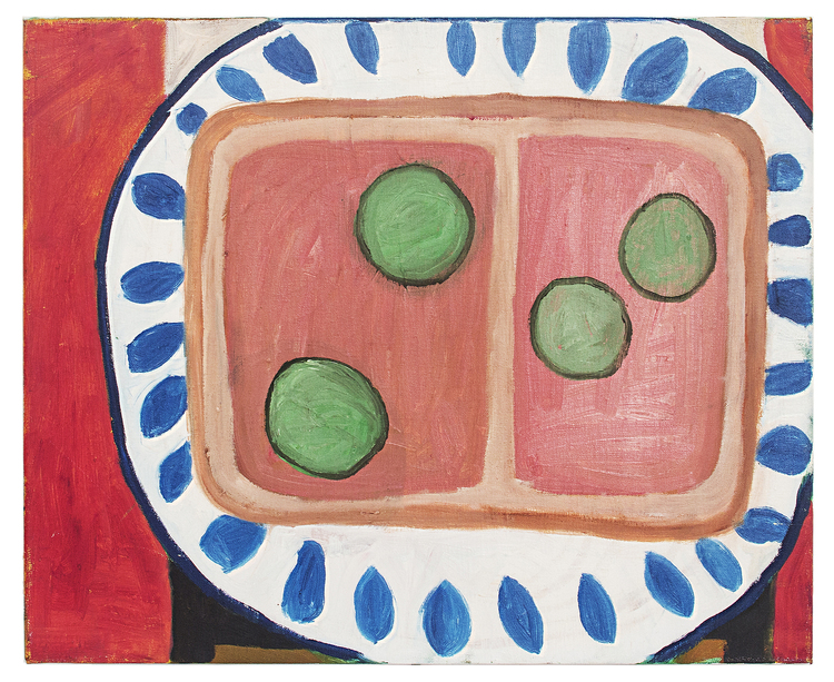 'Hasses leverpastejsmörgås', 2018, ett konstverk av Eva Kerek