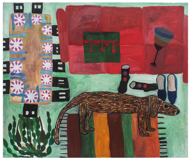 'Hemma hos mig', 2018, ett konstverk av Eva Kerek