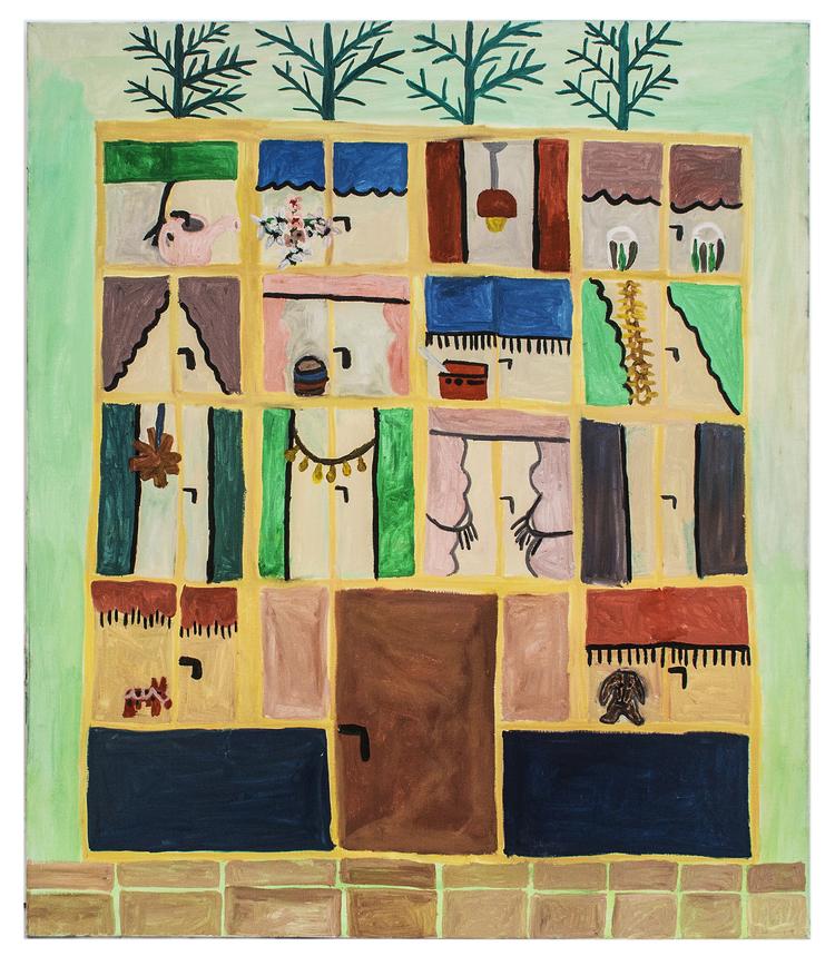 'Mina grannar i lägenheterna', 2018, ett konstverk av Eva Kerek