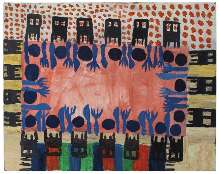 'Party', 2017, ett konstverk av Eva Kerek