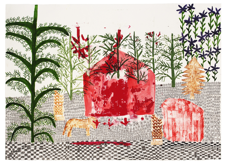'Ellagård', 2019, ett konstverk av Eva Kerek