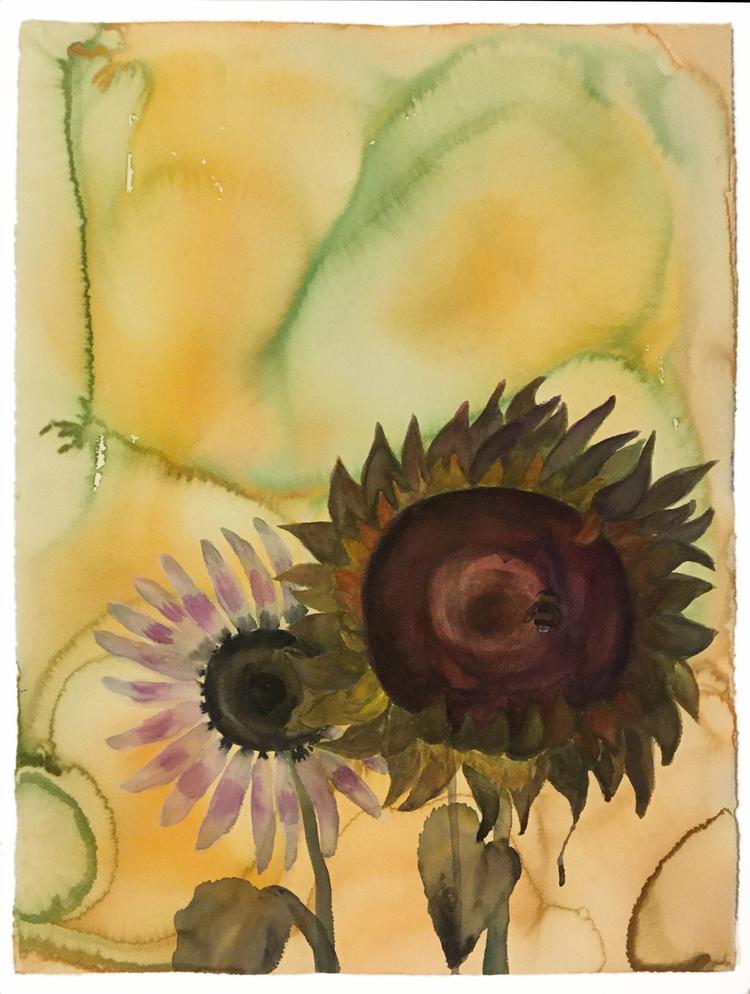 'Sunflowers', 2019, ett konstverk av Helena Brunius