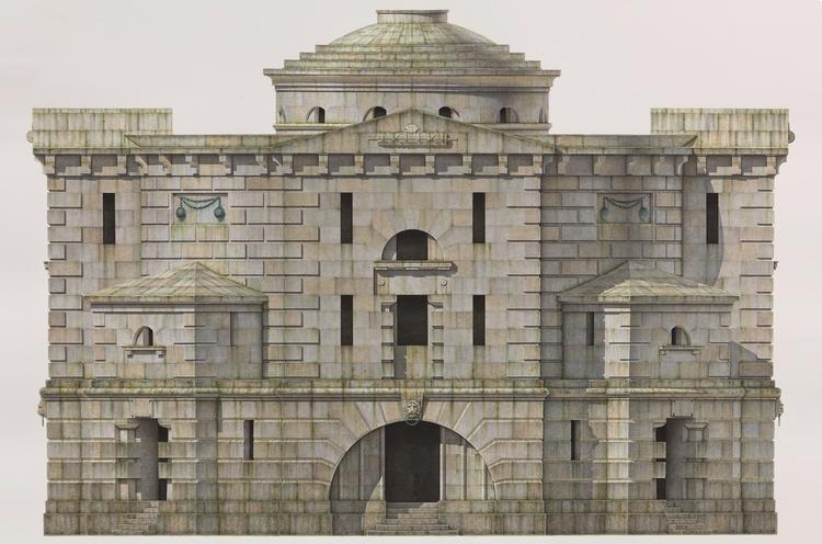 'Idea for a prison', 2019, ett konstverk av Ernst Christian Efvergren