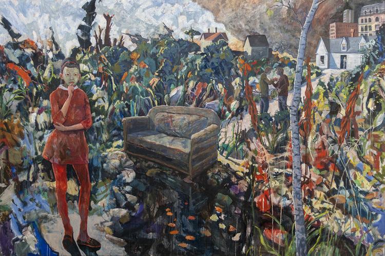 'The settee', 2019, ett konstverk av Staffan Westerlund