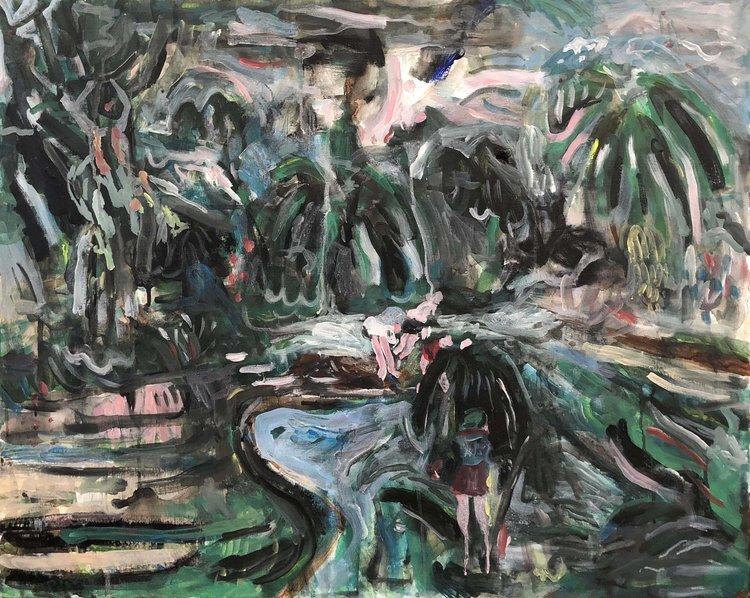 'The urge to argue grew stronger at the beach', 2018, ett konstverk av Johan Barrett