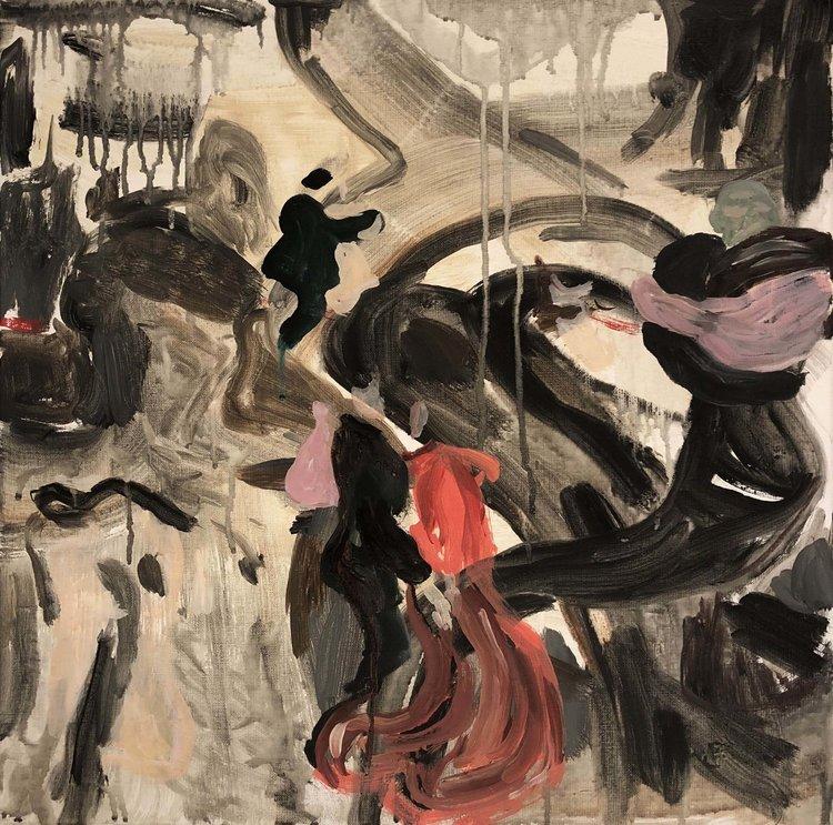 'Hands in all the right and wrong places', 2019, ett konstverk av Johan Barrett