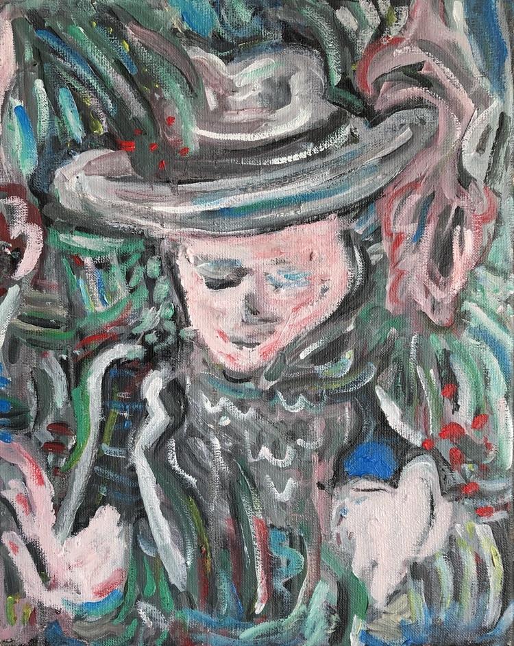 'My fingers move like sad flowers', 2019, ett konstverk av Johan Barrett