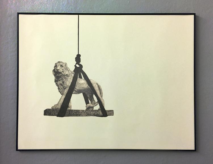 'Temporary statues (London)', 2017, ett konstverk av Tomas Conradi
