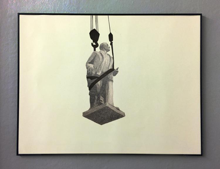 'Temporary statues (Ulan Bator)', 2017, ett konstverk av Tomas Conradi
