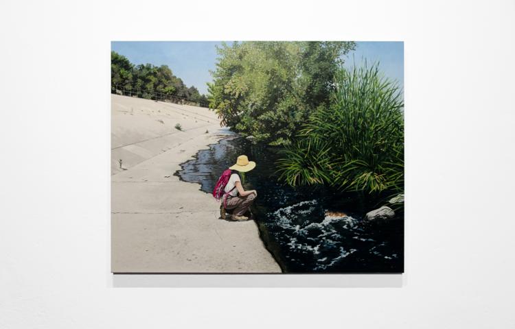 'Kneeling Figure', 2018, ett konstverk av Andreas Glad