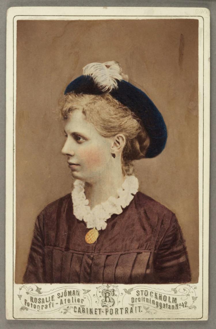 ' Alma Sjöman', 1875, ett konstverk av Rosalie Sjöman