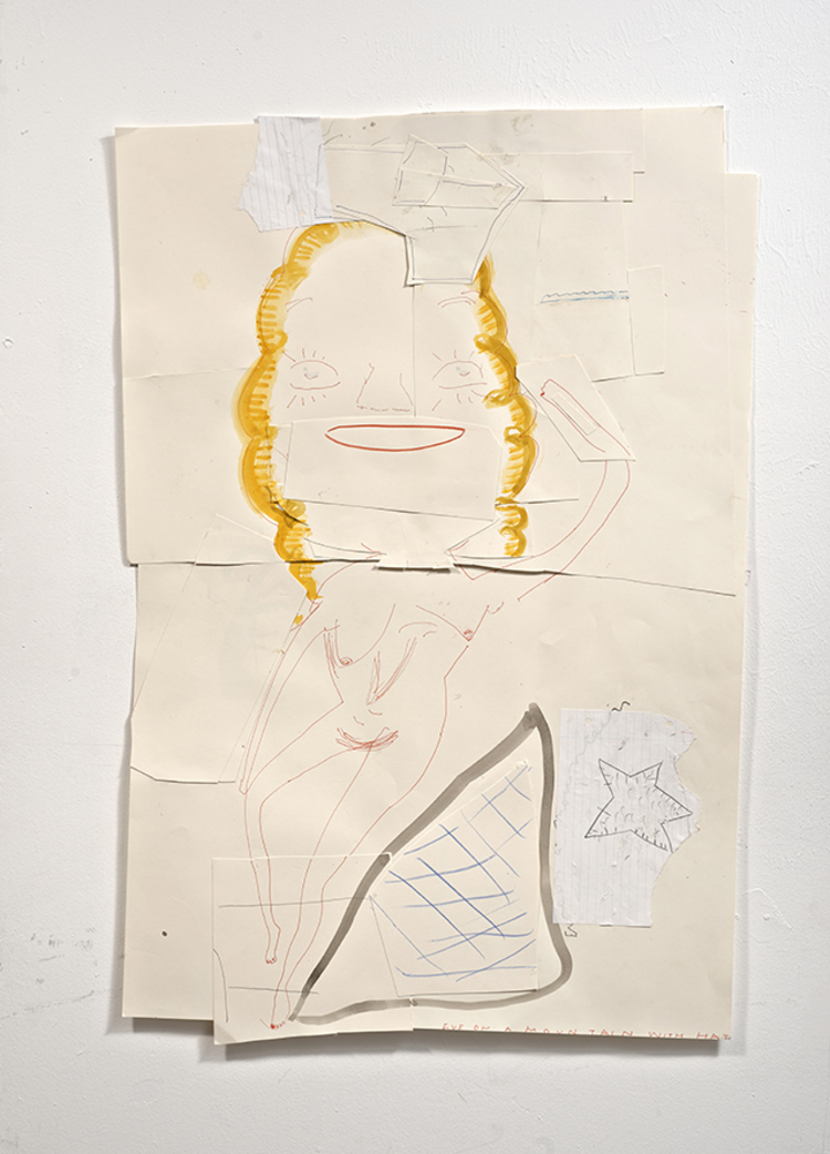 'Eve on a Mountain with Hat', 2012, ett konstverk av Rose Wylie