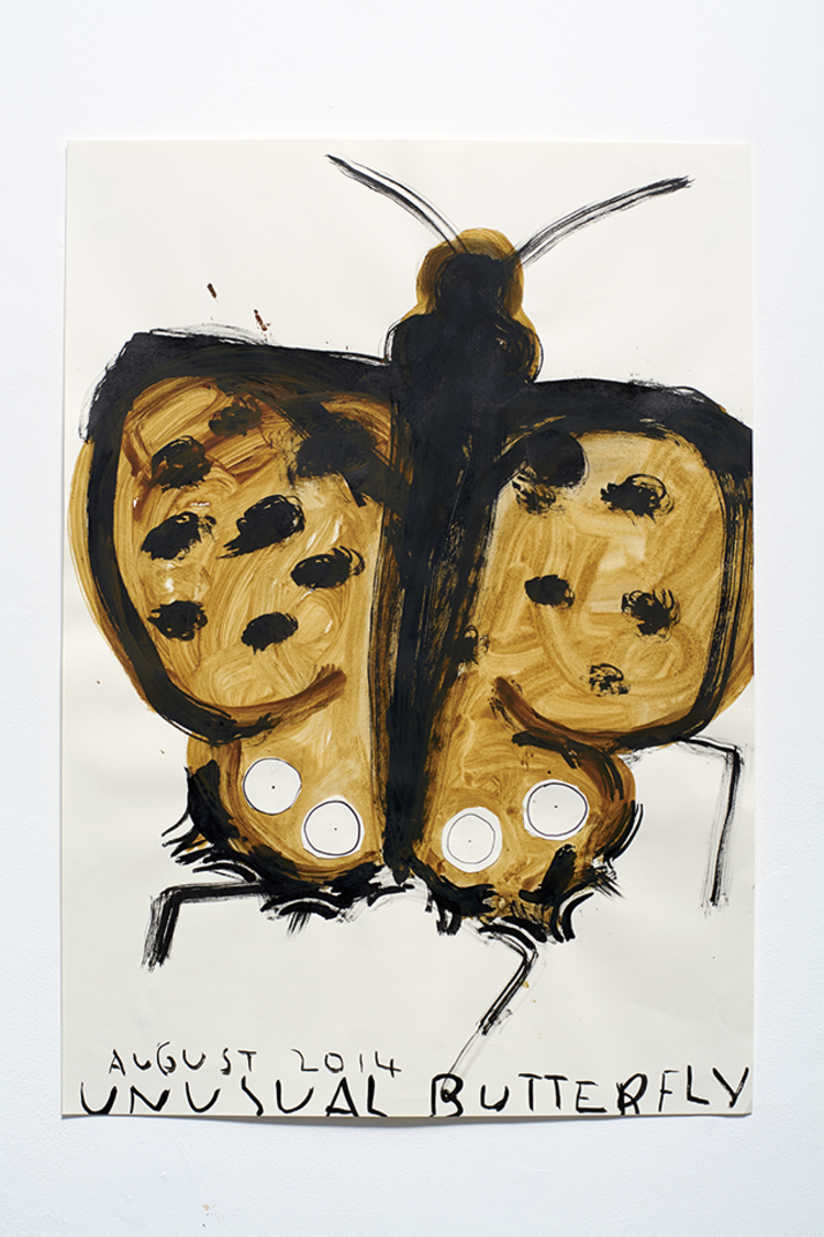 'Garden Butterfly', 2012, ett konstverk av Rose Wylie