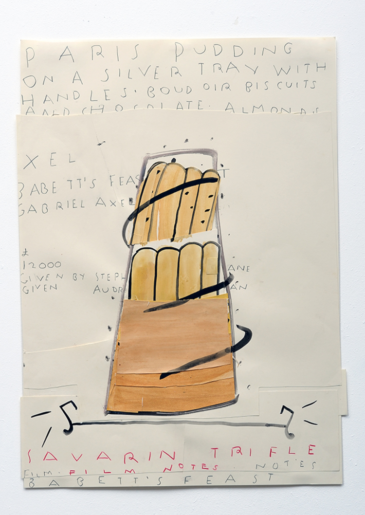 'Savarin Trifle (film notes)', 2010, ett konstverk av Rose Wylie