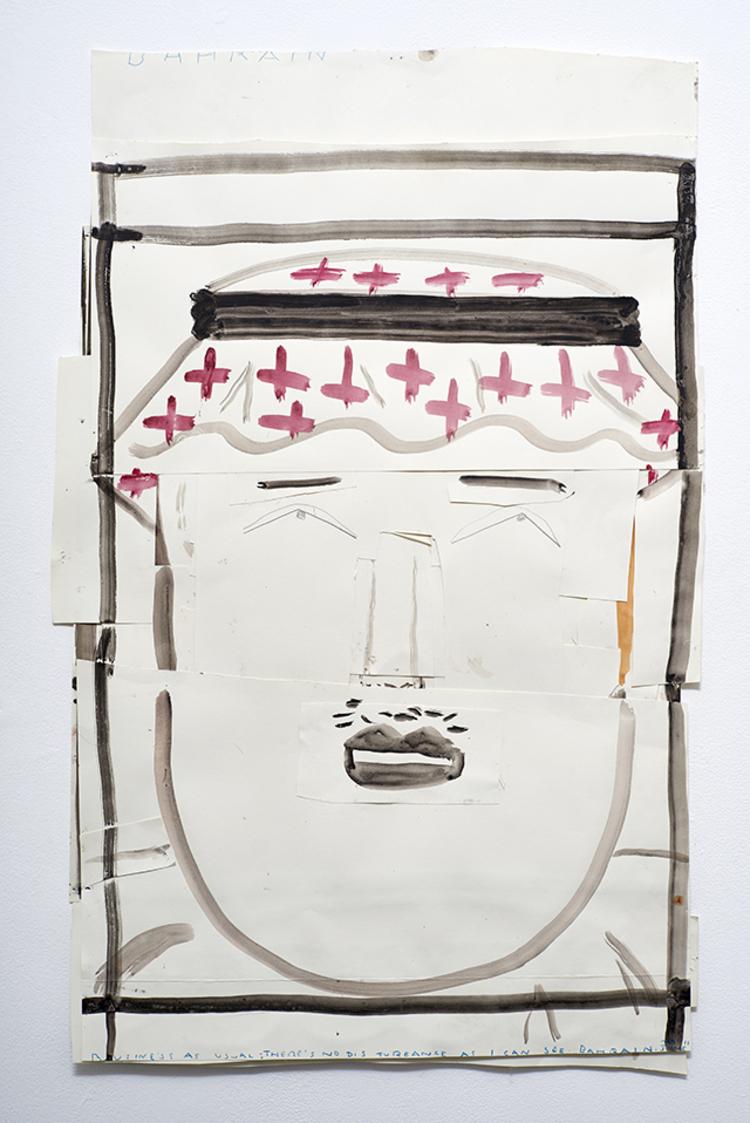 'Dissembling Arab', 2013, ett konstverk av Rose Wylie