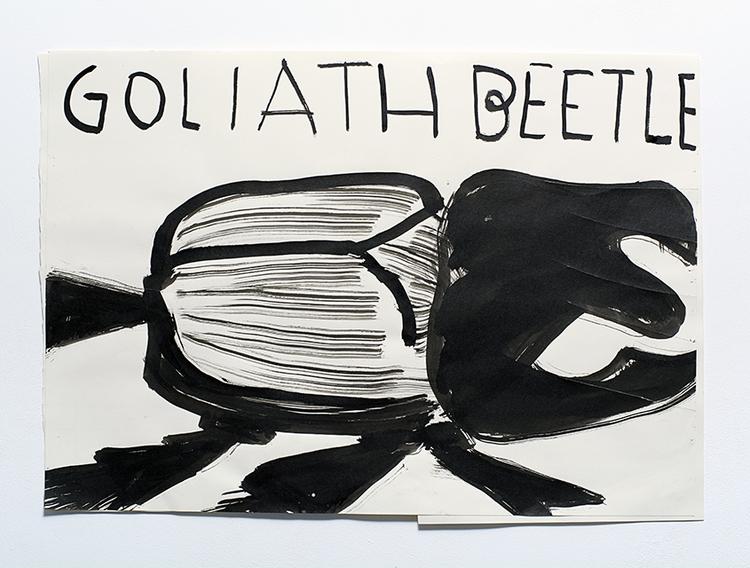 'Goliath', 2014, ett konstverk av Rose Wylie