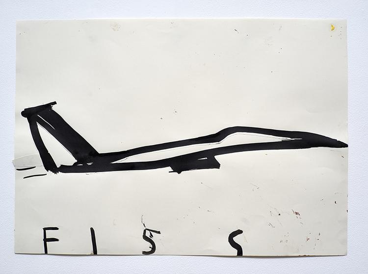'American Bomber F15S', 2013, ett konstverk av Rose Wylie