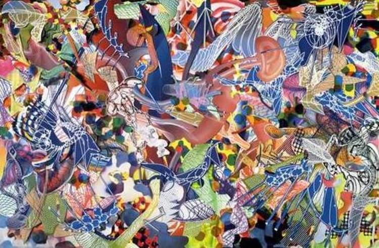 'Moksha (Singapore II)', 1995, ett konstverk av Frank Stella