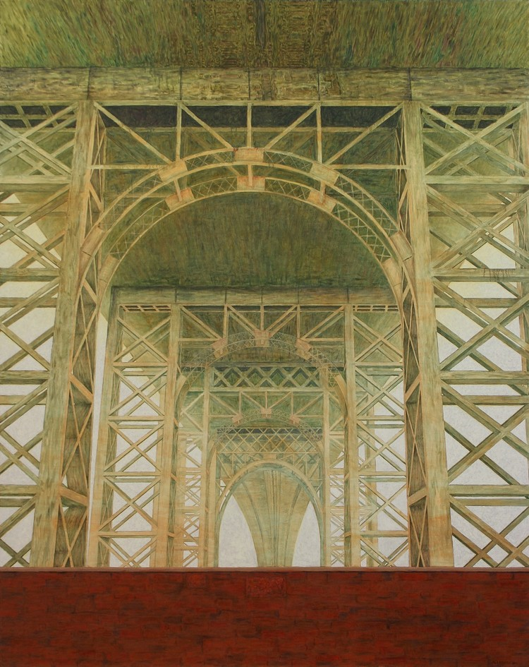 'Williamsburg Bridge', ett konstverk av Pelle Perlefelt
