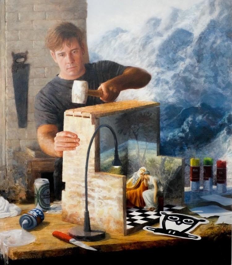 'The Builder', 2016, ett konstverk av Kristoffer Zetterstrand