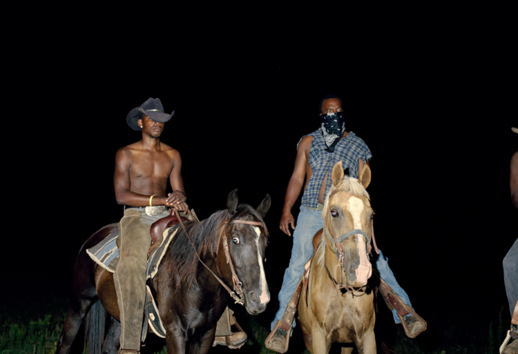 'Cowboys', 2014, ett konstverk av Liz Magic Laser