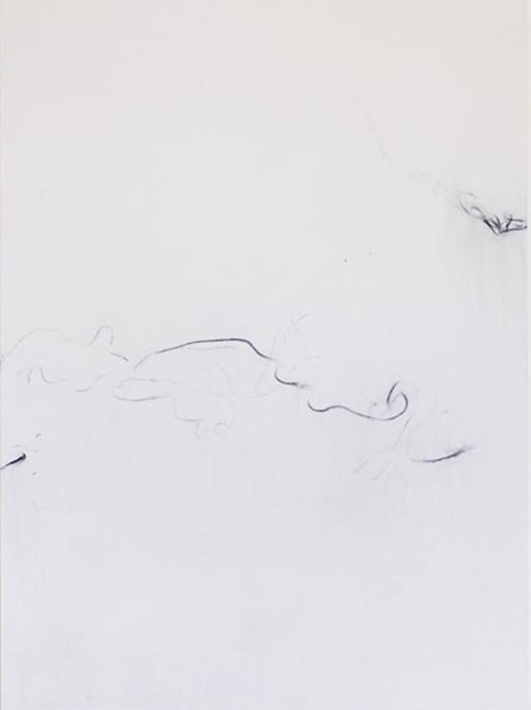 'Trace (Mars Black Thio Indigo)', 2017, ett konstverk av Sofie Thorsen