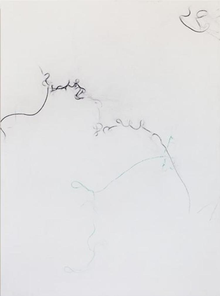 'Trace (Mars Black Permanent Green)', 2017, ett konstverk av Sofie Thorsen