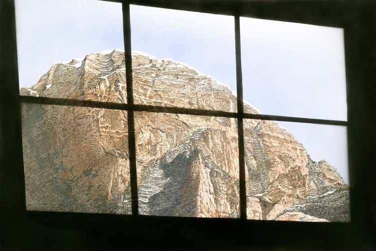'Spied Upon Scene: Window', 2017, ett konstverk av Ed Ruscha
