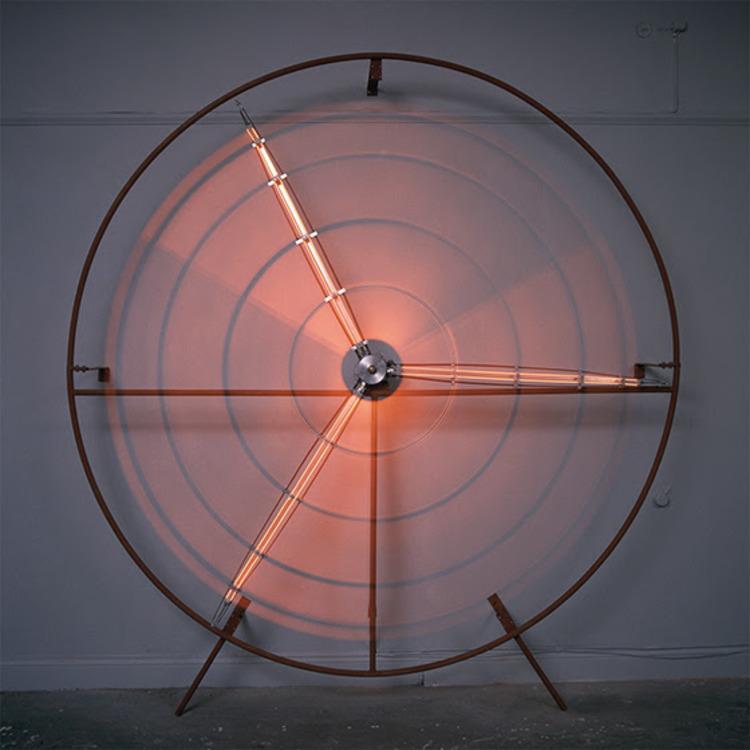'Glödsol', 1989, ett konstverk av Ulf Rollof