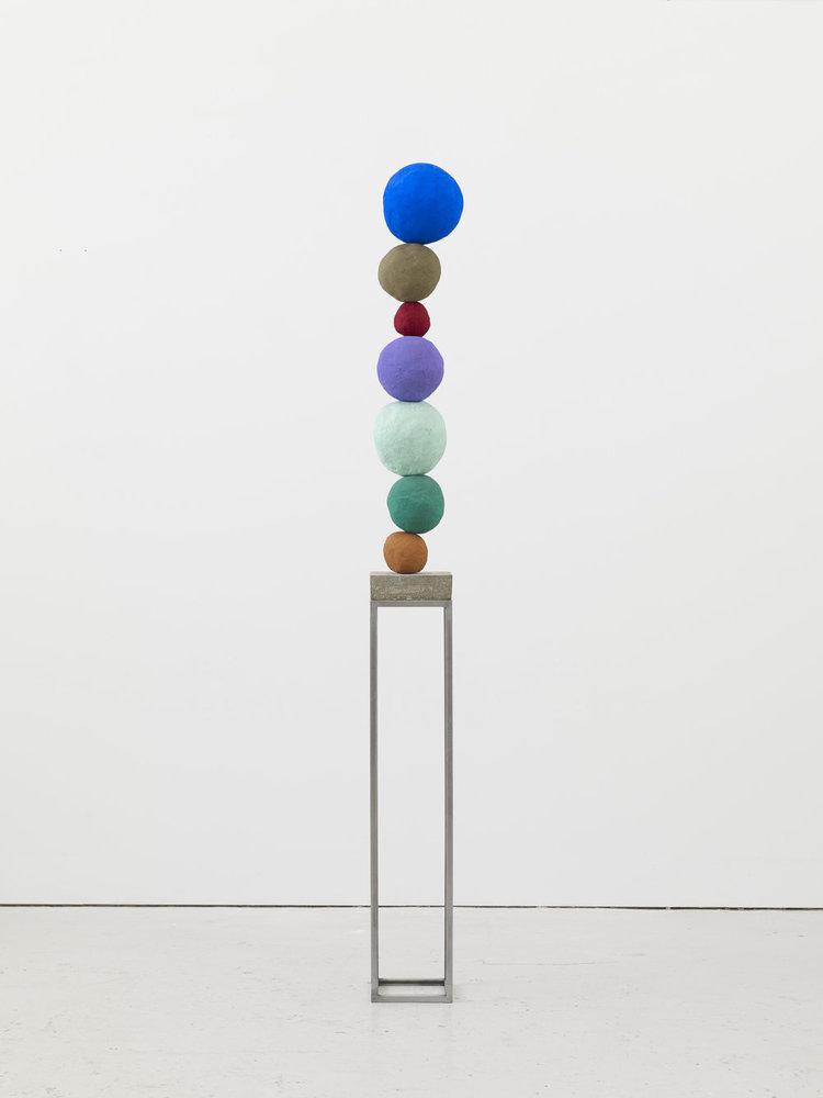 'Stack 7, Ultramarine Blue', 2017, ett konstverk av Annie Morris