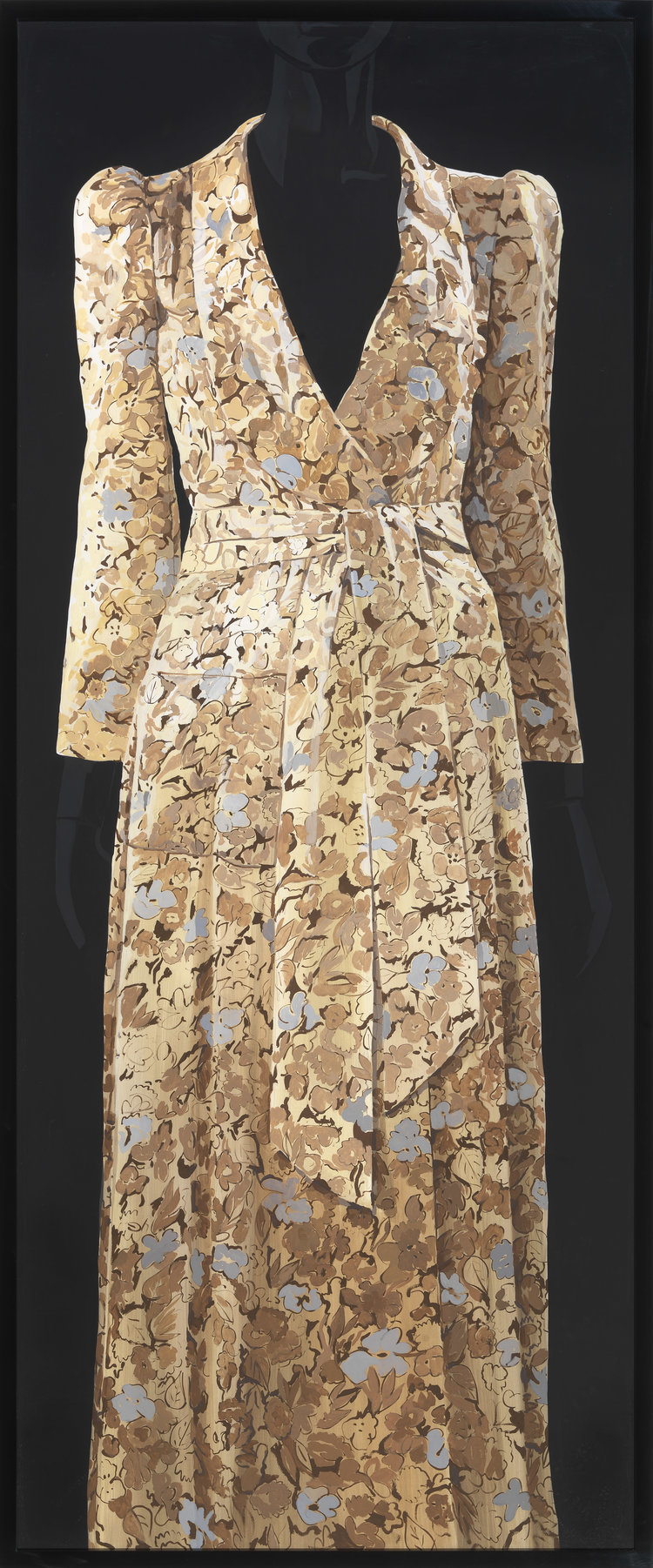 'Crepe Kimono. Style dress with Deco print. Biba', 2014, ett konstverk av Paulina Olowska