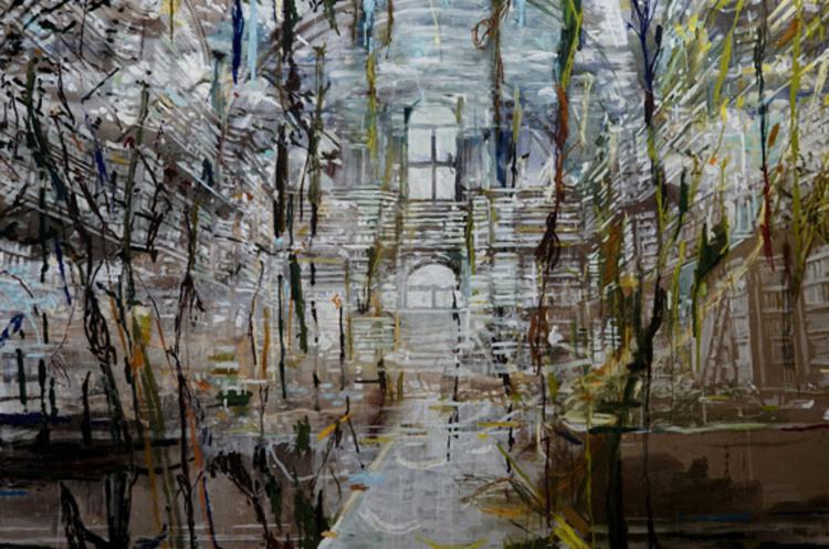 'Kompleks vækst (The Angelica Library, Rome)', 2017, ett konstverk av Karen Gabel Madsen