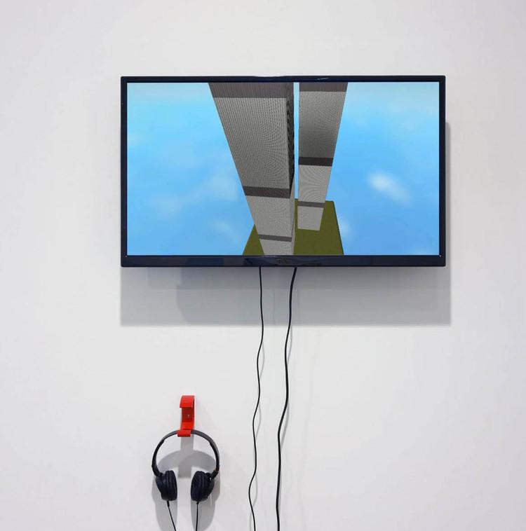 '9/11 Simulation in Roblox Environment', 2017, ett konstverk av James Ferraro