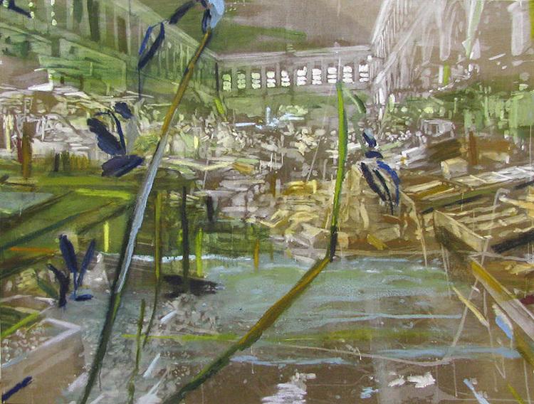 'Varmt viltert (Fishmarket in Athens)', 2017, ett konstverk av Karen Gabel Madsen