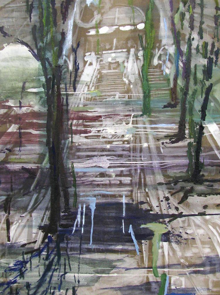'Samtidigt, skov (Copenhagen Central Station)', 2017, ett konstverk av Karen Gabel Madsen