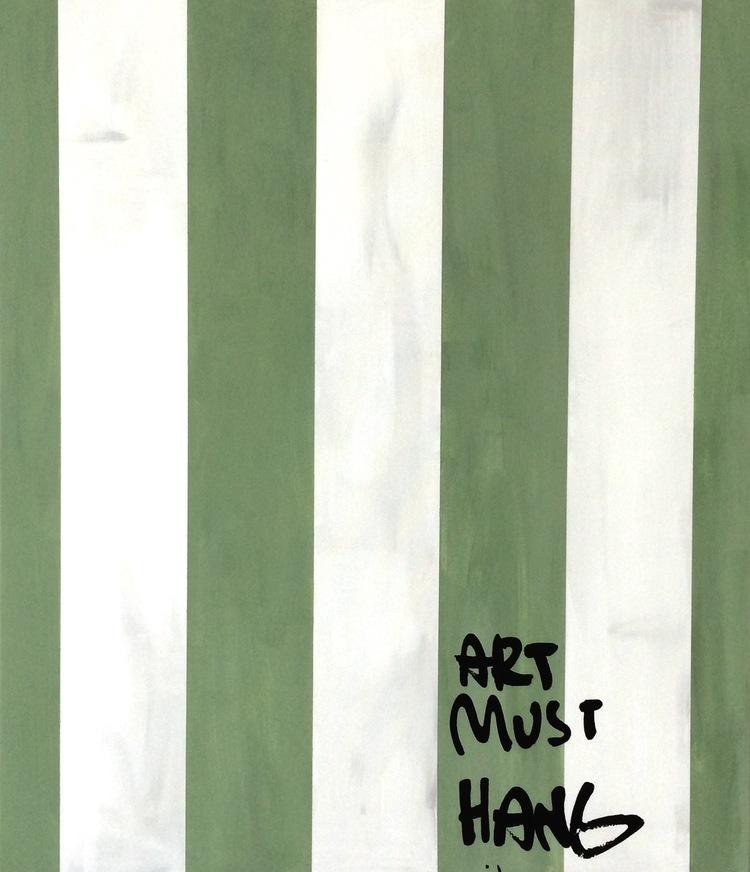 'Art Must Hang', 2017, ett konstverk av Thomas Elovsson